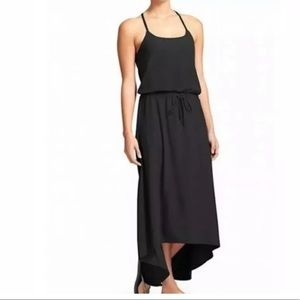 Athleta Novella Asymmetrical Maxi Dress Black
